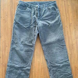 Men's Grey Patagonia Corduroy Pants size 34